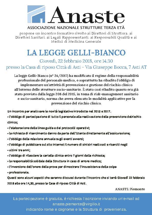 22.2.2018 Evento legge Gelli ad Asti