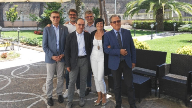Da sinistra: Stefano Bertani, Marco Benedetti, Marco Lollini, Andrea Afragoli, Barbara Venturi e Domenico Brigida
