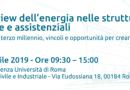 Convegno e dibattito Spending Review dell'energia nelle strutture ricettive, socio sanitarie e assistenziali