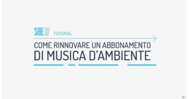SIAE: modalità di rinnovo abbonamento annuale musica d'ambiente
